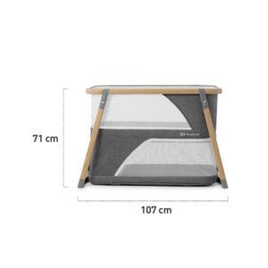 Prenosivi krevetac Kinderkraft SOFI 4u1, dimenzije rasklopljenog kreveca