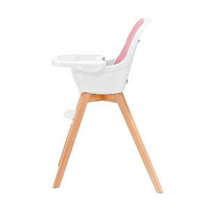 Kinderkraft TIXI pink hranilica za bebe, stolica za hranjenje za veću decu