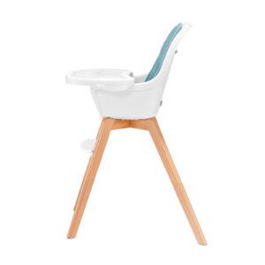 Kinderkraft TIXI turquoise hranilica za bebe, stolica za hranjenje za veću decu