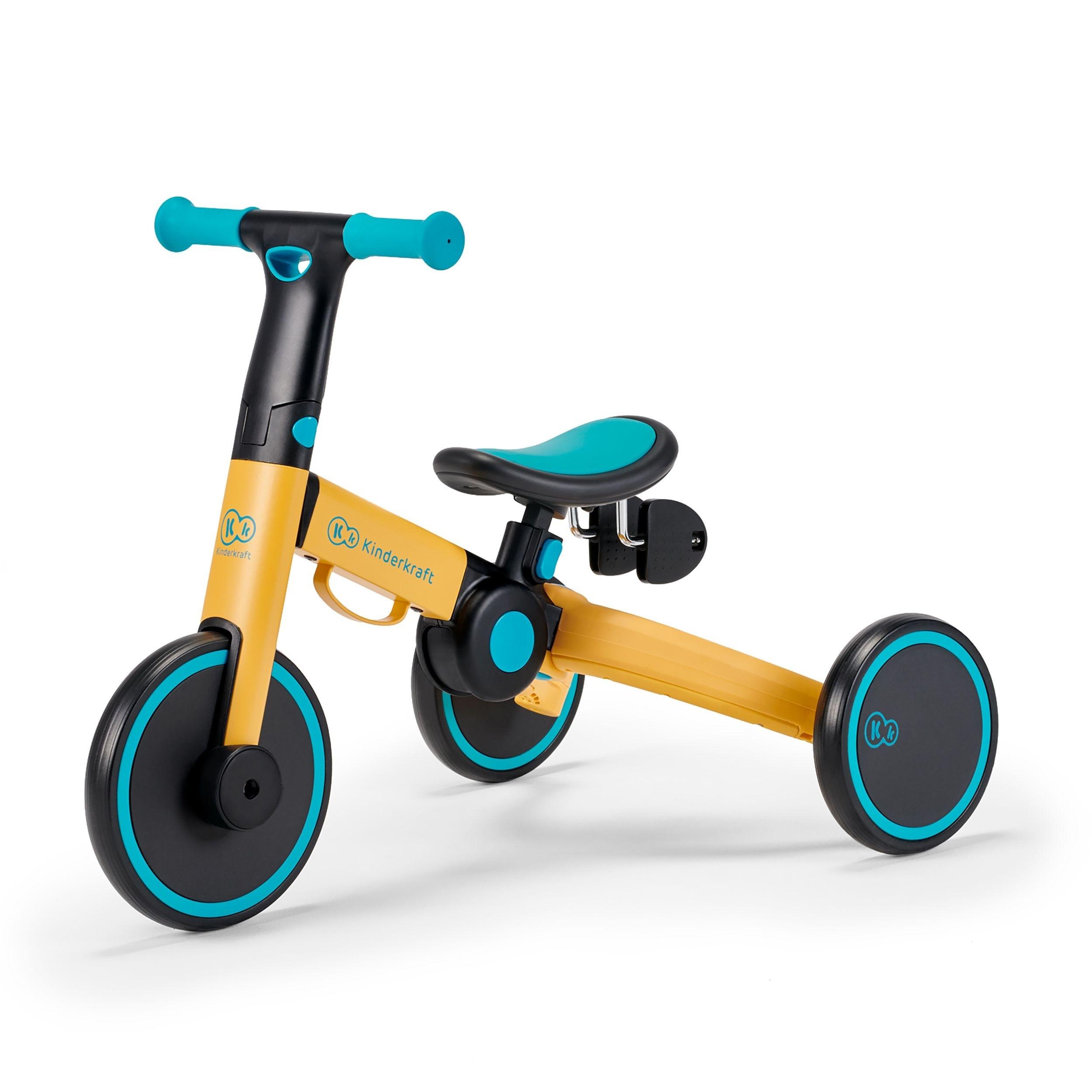 Tricikl bicikl Kinderkraft 4TRIKE primrose yellow