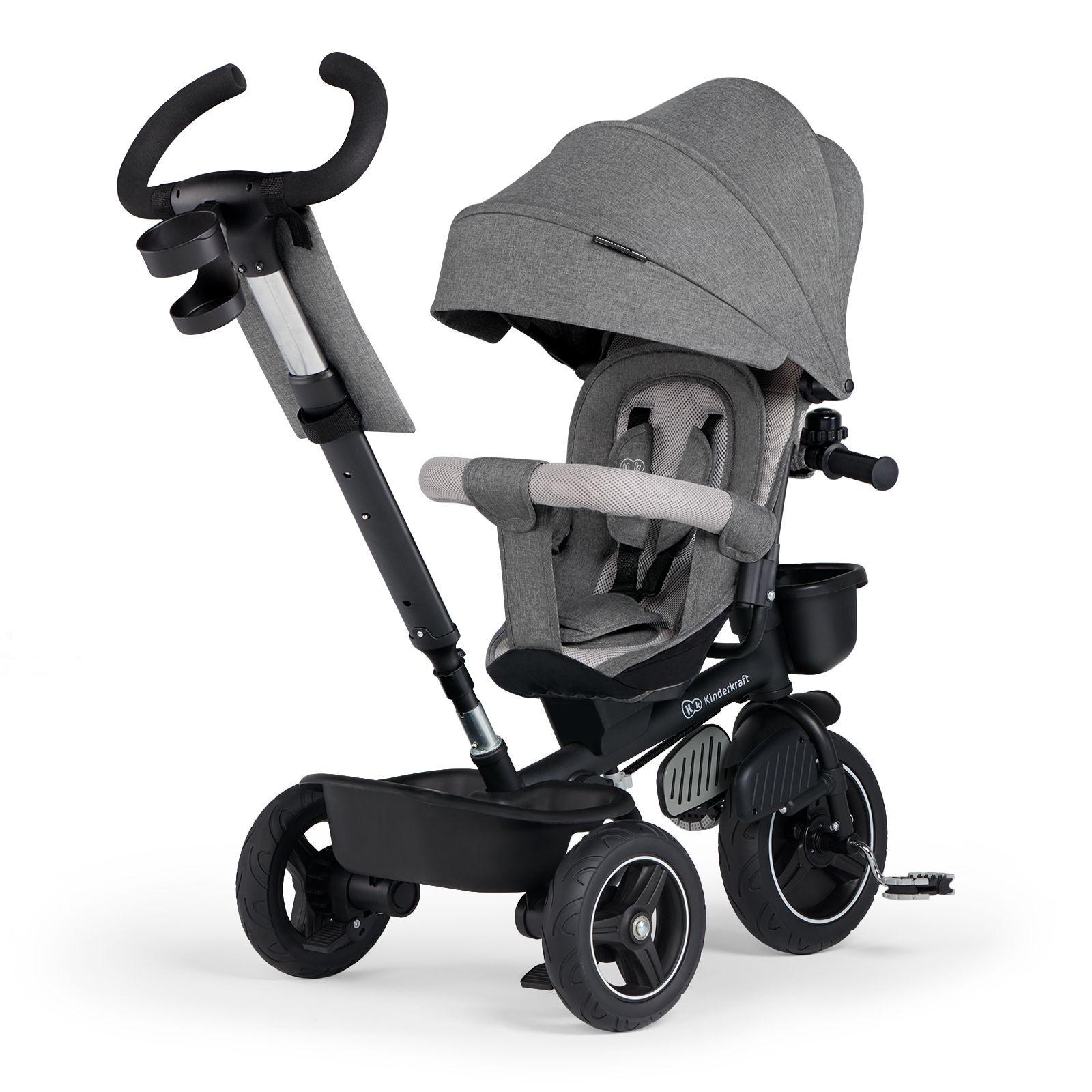 Tricikl guralica Kinderkraft SPINSTEP grey