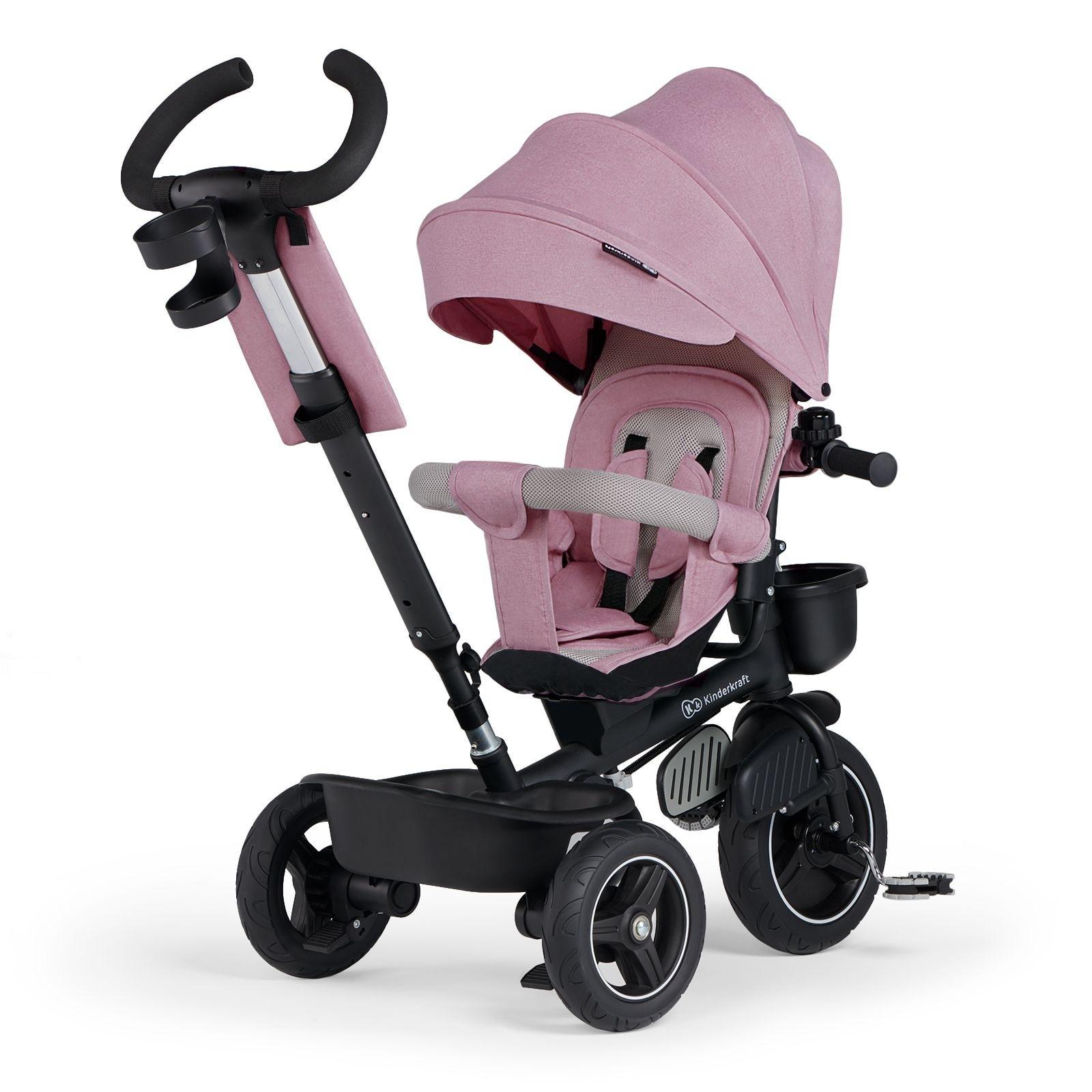 Tricikl guralica Kinderkraft SPINSTEP pink